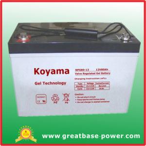 80ah 12V Batería de acumuladores de energía solar/.