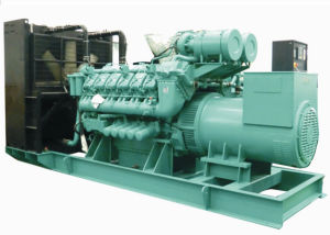 1200kw 1500kVA de ahorro de Diesel La mezcla de gas generador doble