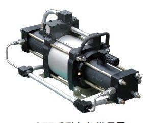 圧縮空気駆動式のガスの増圧ポンプ(STT40)