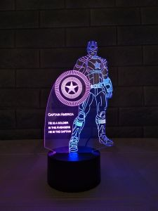 3D夜ライトランプ、寝室3Dの錯覚の電気スタンド、魔法3Dサイドテーブルランプ