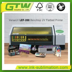 織物印刷のためのロランドVersaの紫外線Lef-200デスクトップの平面プリンター