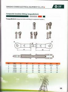 Contera de aislante de composite con acero forjado/lengua y la horquilla
