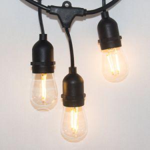 10pcs Lámparas LED de luz de la cadena S14 2700K Warmwhite