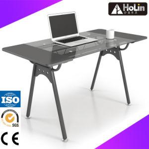 Hogar moderno mobiliario de oficina, mesa de ordenador de cristal ...