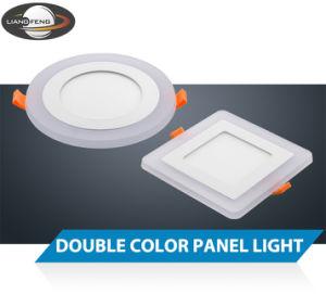 優雅な二重カラー6W (3W + 3W)平らなLED照明灯を収容するアルミニウム+ PMMA