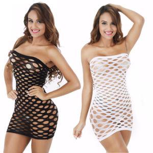 L'élasticité Lenceria coton Lingerie Sexy Hot Mesh Baby Doll robe lingerie érotique de costumes pour les femmes le sexe sous-vêtements résille