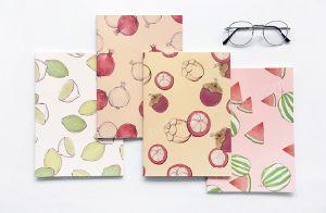 Caderno barato do papel revestido da forma feita sob encomenda quente da venda com Sewingbinding