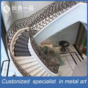 De estilo moderno y nuevo de la escalera de hierro Wroutht Baranda balaustrada para Villa de lujo