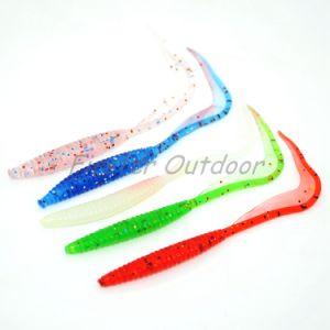 Les larves de queue frisée Stre 2.4G17-08 13cm en PVC souple leurre de pêche