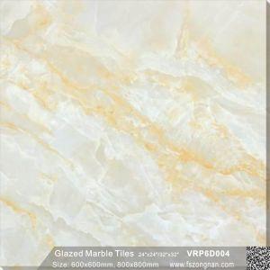 De groene Ceramische Volledige Opgepoetste Verglaasde Tegel van de Vloer van het Porselein voor Decoratie (600X600mmVRP6D008)