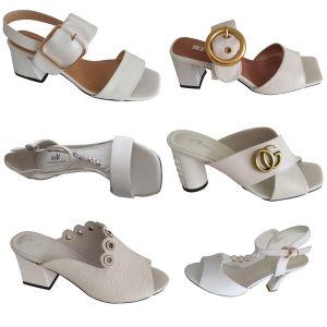 Dernier modèle de chaussures de mode de fermoir métal ornement du caisson de nettoyage