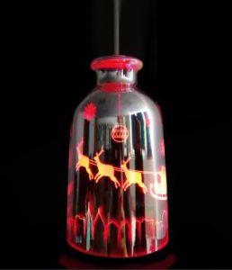 Umidificatore di vetro ultrasonico variopinto di vendita caldo dell'aroma 3D del LED