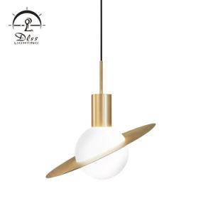 Lampada Pendant della sfera di alta qualità del lampadario a bracci di vetro di rame dello schermo LED