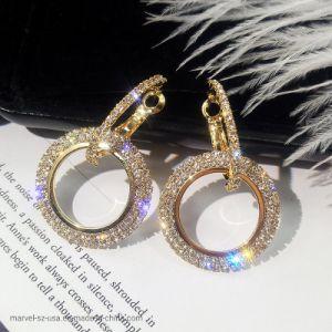 Casamento de moda Crystal Parte queda de prata brincos de mulheres joalharia