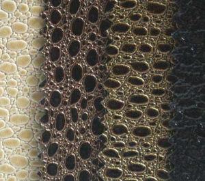 O PVC brilhante de pele com padrão de Bonito