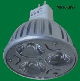 MR16 3W Scheinwerfer der Leistungs-LED (12V eingegeben)