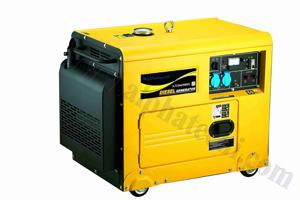 De diesel Reeks van de Generator (5.0/5.5KVA, Stil Type) (ADG6500S)