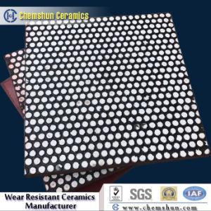 Résistant aux chocs en caoutchouc composite céramique chemise d'usure