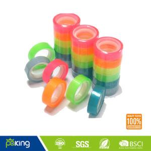 さまざまなカラープラスチックコアBOPP文房具の宝石テープ