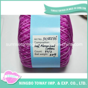 Super fino bordado Poliéster Variegada de fio de algodão de costura
