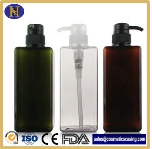 Cuidado Corporal 650 ml botella de cosméticos de la plaza de plástico con bomba