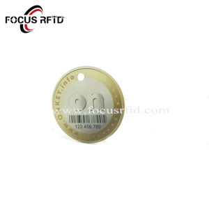 Fobs astuti di tasto di scheda di obbligazione della modifica a resina epossidica del fornitore RFID dell'oro con il codice a barre/numero di serie/Uid stampati