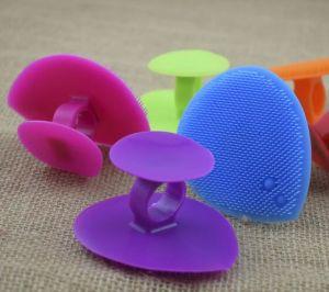 Caucho de silicona se enfrentan a limpiar el cepillo Cepillo de Baby Shower