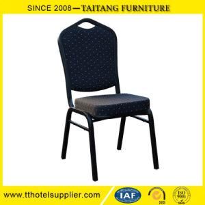 安く使用されたファブリックHotel&Banquetの多彩な椅子のスタック可能金属のレストランの家具