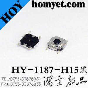 Interruttore di tatto di alta qualità SMD con 5.2*5.2*1.7mm 4pin (HY-1187-H1.7)