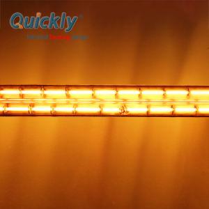 Reflector de ouro de ondas curtas de revestimento de lâmpadas de aquecimento por infravermelhos para a máquina de impressão