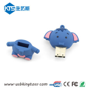 Giftのための漫画のAnimal Elephant Design PVC USB Memory Stick