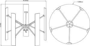 De goedkope Turbine van de Wind van de Hoge Efficiency van de Prijs 100W Grnerator met Controlemechanisme en Omschakelaar
