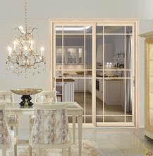 Portello di apertura di alluminio interno di lusso dell'oscillazione dei portelli