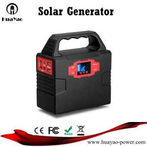 Generador solar de 100W Sistema de Energía Solar con luz LED para cargar teléfonos