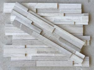Weißer Kultur Stein Gestapeltes Steinfurnier Blatt Für Innen  Und  Außenhaus Dekor