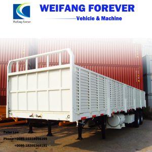 永久にWeifangの3車軸側面の側板か半塀の貨物トラックのトレーラー