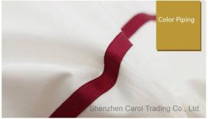 Tela di base di lusso dell'hotel del lenzuolo del cotone con il reticolo astuto
