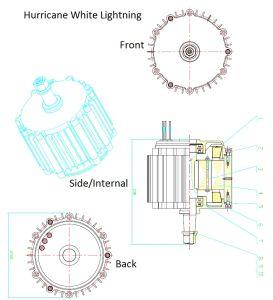 12ボルトの永久マグネット交流発電機の風発電機のハリケーン750極度のAMPS