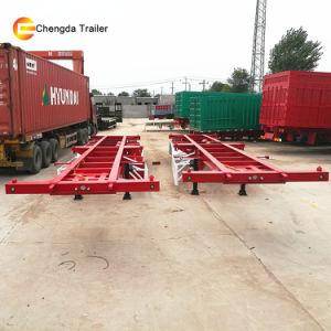 40ton 20FT 40FT Container trailer do esqueleto para venda