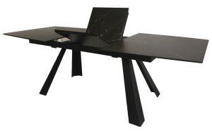 Vidrio templado de 8mm estilo casa moderna mesa de comedor Muebles de extensión