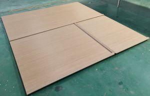 El panel de pared de chapa de madera, el hotel y espacio público el diseño de panel de pared