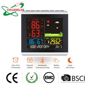 Estação de Previsão meteorológica sem fios barómetro higrómetro termómetro com Despertador atómica