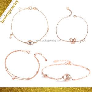 Moda Encanto Ouro jóias com diamantes 925 Libra Esterlina jóias de prata Bracelete Bangle com olho mau