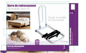 Rail de lit réglable potable aider