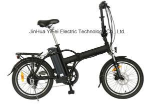 Складной электрический велосипед с литиевой батареей 20 дюйма для поездок на работу