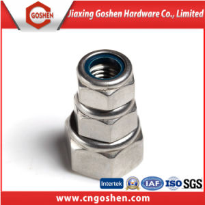 La norme DIN 985 en acier inoxydable 304 de l'écrou de blocage en Nylon hexagonal