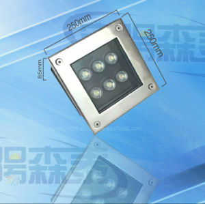 Im Freien Tiefbaulicht des Quadrat-LED für Quadrat parkt 3W 6W 12W 16W InBoden Licht