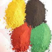 Het Oxyde van het ijzer (rood, geel, groen, blauw, bruin, zwart)