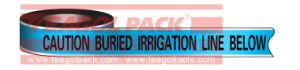 De opspoorbare Band van de Lijn van de Irrigatie van de Voorzichtigheid
