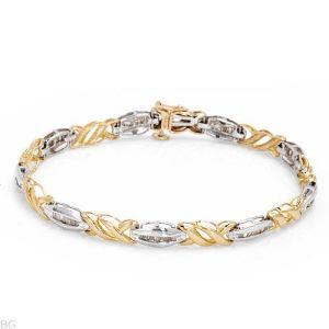 braccialetto dell'oro 10K con il diamante (LBRG1044)